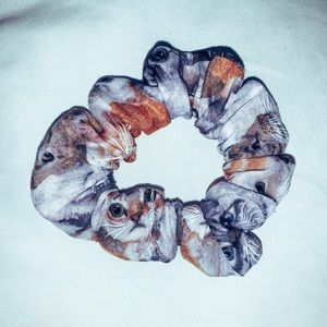 handmade cat scrunchie